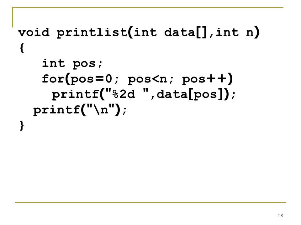 void printlist(int data[],int n)